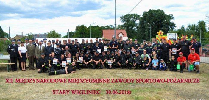 XII Międzynarodowe Międzygminne Zawody Sportowo-Pożarnicze Gminy Węgliniec i Gminy Pieńsk w Starym Węglińcu
