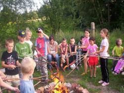 Kiełbaski na ogniu